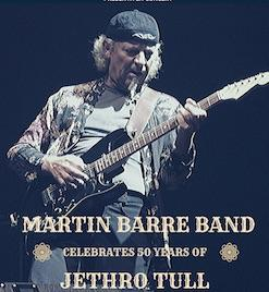 MARTIN BARRE BAND Celebrates 50 years of JETHRO TULL