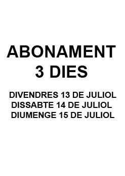 ABONAMENT 3 DIES