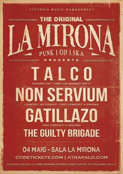NON SERVIUM + TALCO + GATILLAZO + THE GUILTY BRIGADE