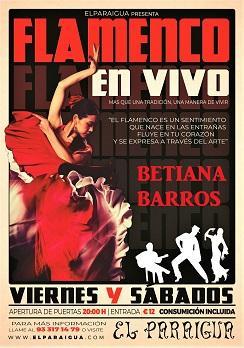 Flamenco: Betiana Barros en El Paraigua