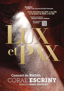 Lux et Pax. Concert de Nadal