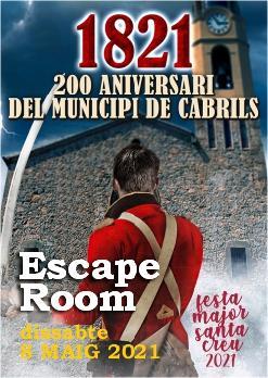 ESCAPE ROOM: 1821, 200 aniversari de la independència de Cabrils!