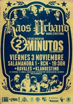 2 MINUTOS + KAOS URBANO + RABALES + KLANDESTINO