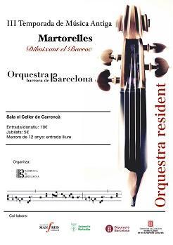 Concert 9 de maig al Cicle de Música Antiga de Martorelles
