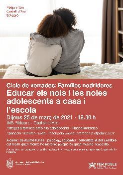 Educar els nois i les noies adolescents a casa i l'escola