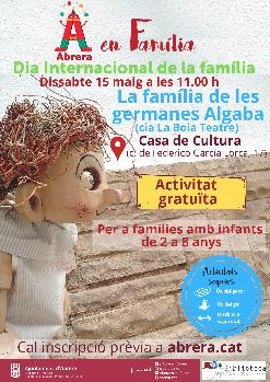 Dissabte 15 de maig a les 11.00 h - Conta contes: La família de les germanes Algaba de la companyia La Boia Teatre