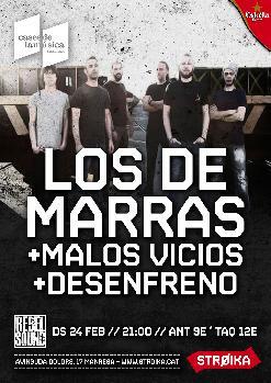 REBEL SOUND presenta LOS DE MARRAS +  MALOS VICIOS + DESENFRENO