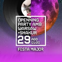 OPENING PARTY amb WARSAW + BUFF BAY