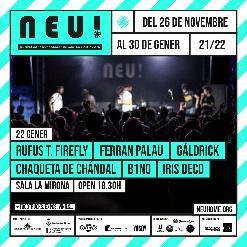 NEU! Rufus T. Firefly + Ferran Palau + Gáldrick + Chaqueta de Chándal + b1n0 + Iris Deco