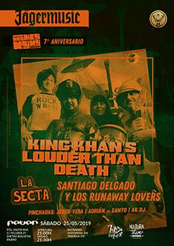 KING KHAN'S LOUDER THAN DEATH / LA SECTA / SANTIAGO DELGADO...