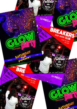 GLOW PARTY + FOLLOW THE PARTY